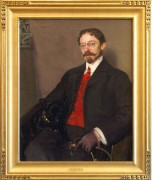 Miller, Edward Richard, American 1875 to 1943, Portrait of Charles W. Ayton, from the estate of Mr. Preston Prevatt's Mother, Appraised 1989