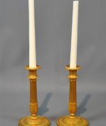 My French Gilt Bronze Empire Candlesticks, Bought at DAFA 2012